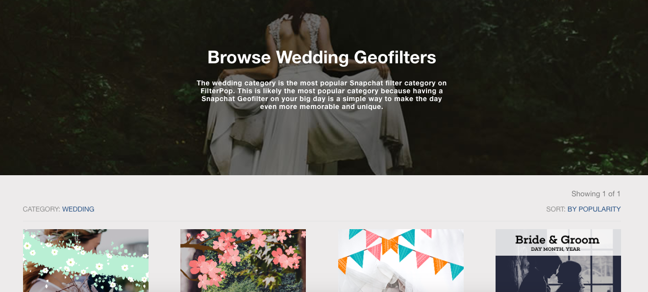 Snapchat Wedding Filter Wedding Geofilter