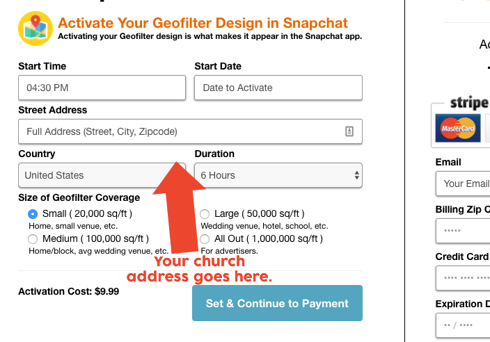 Snapchat Church Filter Geofilter Geofence